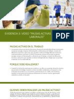 """Evidencia 3 Video """"Pausas Activas en Entornos Laborales"""