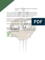 Carta Presentacion Trio Capilla