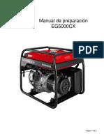 Manual Generador Honda Eg-5000cx