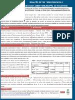 Poster - Relação entre transparencia e desenvolvimento municipal no Tocantins (1).pptx
