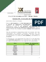 Circular 001 Resultados iniciales y ampliación de plazo convocatoria XX Encuetro Iberoamericano de Cementerios Patrimoniales