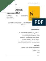 """CONSTITUCIÓN DE LA EMPRESA DE EMBUTIDOS """"MI K'ASAS.A.C"""""""