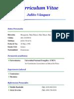 Curriculum Vitae Julito Vasquez