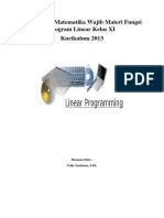 Bahan Ajar Matematika Wajib Materi Program Linear Kelas XI