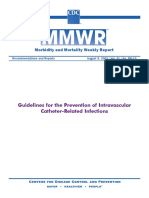 Guidelines Prevention Intravascular Catheter