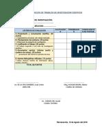 Ficha de Evaluacion de Trabajos de Investigacion Cientifica