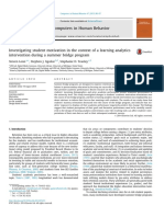 Investigating Student Motivation in the Context of a Learning Analytics Intervention During a Summer Bridge Program 2015 Computers in Human Behavior