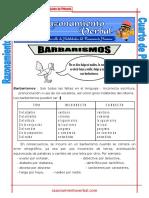 01 Barbarismos Quinto de Primaria