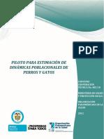Informe Piloto Estimacion Dinamicas Poblacionales Perros Gatos