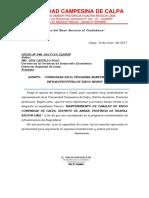 Oficio a La Region Lima Calpa