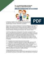 Unidad I Las Instituciones Sociales