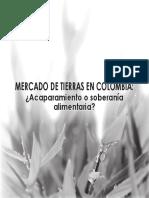 Mercado de tierras en Colombia