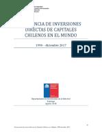 Presencia de inversiones directas de capitales chilenos en el mundo. 1990-Dic2017