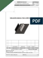 0508-CCSK-CAL-003 Memoria de Cálculo Dobladora de Acero de Refuerzo