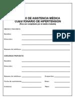 BMI Cuestionario de Hipertension