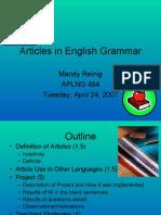 Articles Presentation
