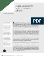 Prado (2016) Werner Baer, Os Brasilianistas e a Interpretação Econômica Do Brasil Uma Nota.