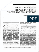 Massi (1990) Brasilianismos, 'Brazilianists' e Discursos Brasileiros