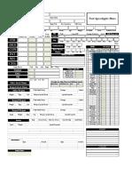 Nola Character Sheet Print