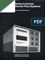 Berkey Colortran Dimmer Pack Systems Brochure 1973