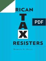 American Tax Resisters (Romain D. Huret)