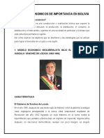 Modelos Economicos de Importancia en Bolivia