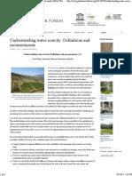 Understanding Water Scarcity