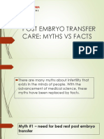 Post Embryo Transfer Care Myths vs Facts - IVF Clinic in Jaipur