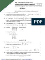 Mathematics a IV