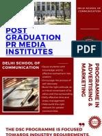 Post Graduation PR Media Institutes DSC