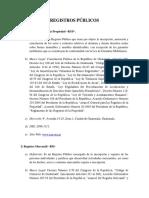 Derecho Registral (Registros Públicos)