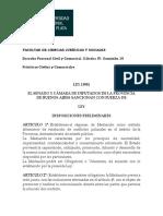 Ley Mediacion Prov. de Buenos Aires