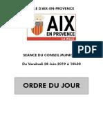 CM 21.06.2019 Ordre Du Jour