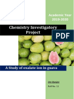 A Study of Oxalate ion in guava