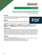 Castrol Transmax Full Synthetic Multi-Vehicle Atf_ficha Técnica