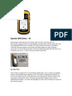 Garmin GPS Etrex -10