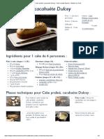 Recette Cake Praliné, Cacahuète Dulcey - Fiche Recette Illustrée - Meilleur Du Chef