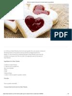Recette de Biscuits de La Saint-Valentin Et Ingrédients