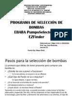 Programa de selección de bombas centrífugas EbaraPumps Selector Presentación