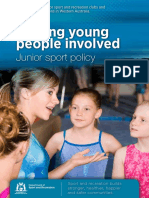 Getting Young People Involved Junior Sport Policy-WA Case Study