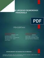 Esensi Dan Urgensi Demokrasi Pancasila