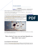 5 Fun Ways to Learn Spanish