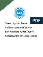 Advaced Survey