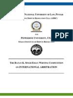 Brochure - Ratan K Singh Essay Writing Competition on International Arbitration - 2.0.pdf