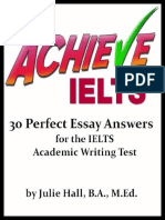 Hall Julie Achieve Ielts 30 Perfect Essay Answers