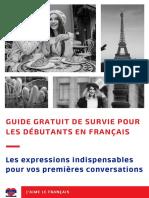 J Aime Le Francais Guide Gratuit de Survie Pour Les Debutants en Francais