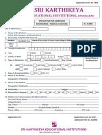 Application Form - II