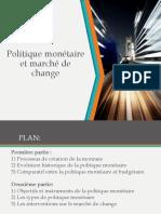 La Politique Monétaire Et Le Marché de Change VF