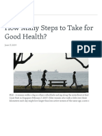 VoiceOf America_How Many Steps to Take for Good Health
