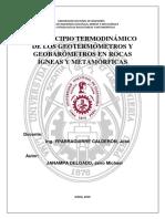 El Principio Termodinámico de Los Geotermómetros y Geobarómetros